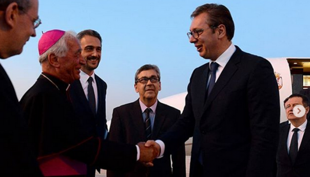 Aleksandar Vučić stigao u Vatikan
